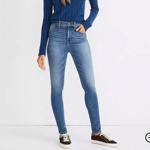 "Madewell 11"" High-Rise Skinny Jeans in Layne Wash"